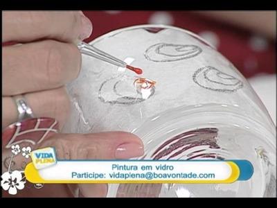 Artesanato - Pintura em vidro