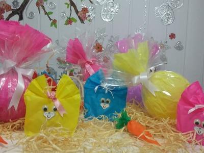 Aula 22 - Decoração de Páscoa - Ovos de Páscoa e Sacolinhas - Artesanato