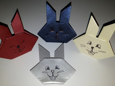 Como fazer coelho de origami - DIY - Easy origami rabbit