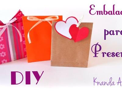 Como fazer Embalagem para Presente - Saquinho de Papel  - DIY Gift Wrapping