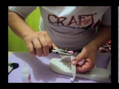 CRAFT ARTESANATO - Video AULA CHINELO COM E V A