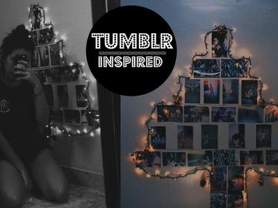 DIY: árvore de natal com fotos | TUMBLR INSPIRED