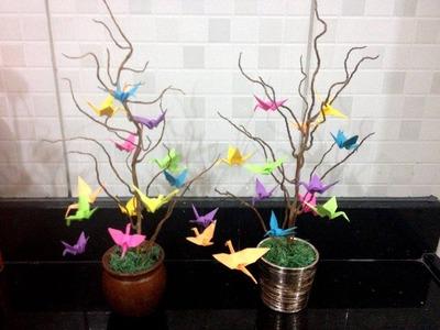 DIY: Árvore de Tsurus