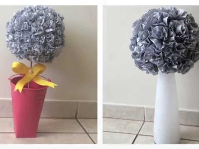 DIY: Buquê de flores de papel crepom