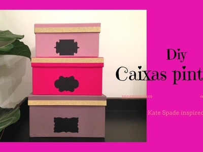Diy-Caixa Pintanda-Kate spade inspired