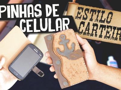 DIY Case Phone - Capinha de Celular Estilo Carteira | Aprenda com Edu