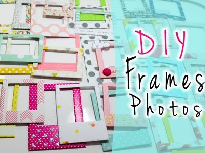 DIY: Chipboard Frames.Foto Frames.Molduras Polaroides