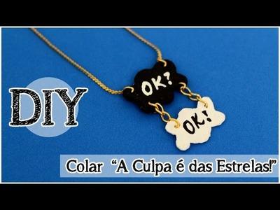 """DIY: Colar """"A Culpa é das Estrelas"""""""