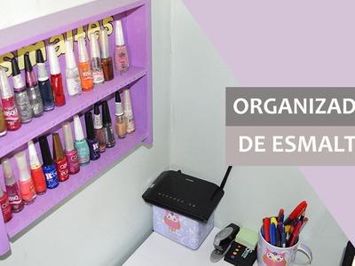 DIY com caixotes de feira: organizador de esmaltes