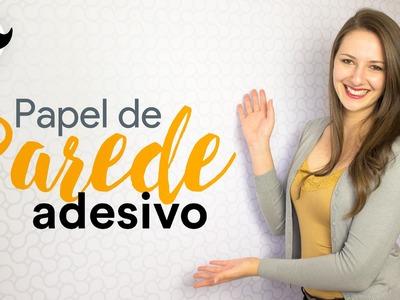 DIY - Como Aplicar Papel de Parede Adesivo da AdsiveShop #ReformaNamorado