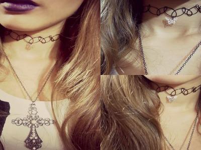DIY: Como fazer o colar Tattoo Choker