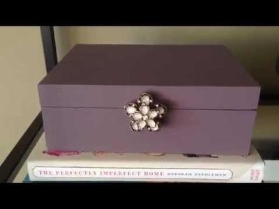 Diy-costumização da caixa de bijou-Antes e depois