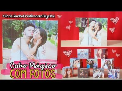 DIY: Cubo Mágico de Fotos ♥ Presente Criativos para Namorados | #12deJunhoCriativoComAlyeVal