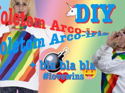 DIY - Estampa de arco-íris (#lovewins)