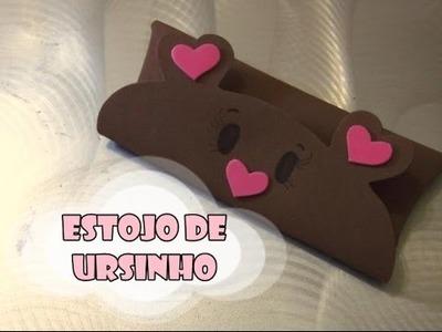 DIY.: Estojo de Ursinho