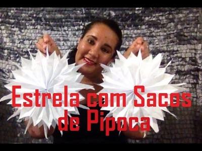 DIY - Estrela com Sacos de Pipoca