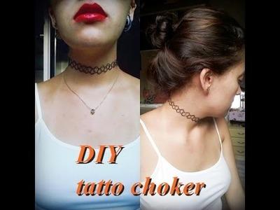 DIY: faça você mesmo 90's TATTOO CHOKER. colar tatuagem