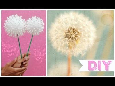 DIY: Flor Dente de Leão. Decoração Fácil