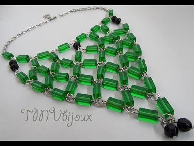 DIY - Maxi Colar com quadradinhos de vidro