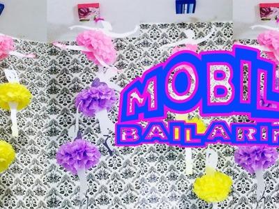 DiY Mobile de Bailarina Faça você mesmo decoração festa de aniversário|Tatiane Xavier