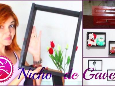 DIY: NICHOS DE GAVETA I FAÇA VOCÊ MESMA I Niche with old drawers | Por Zenynha Costa