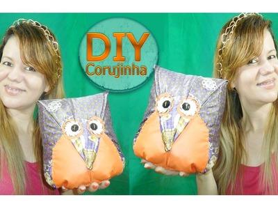 ✂ DIY | Peso de Porta Coruja - Feito com Tecido de Sombrinha
