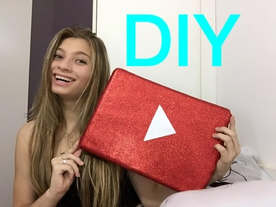 DIY PLACA DO YOUTUBE | PRIMEIRO DIY DO ANO !