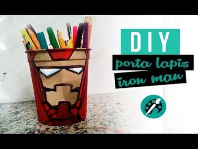 DIY PORTA LAPIS DO HOMEM DE FERRO ❤ GEEK TUTORIAIS