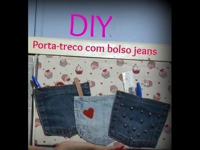DIY - Porta treco com bolso jeans