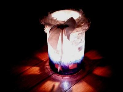 DIY: Porta velas com pote de vidro reciclado