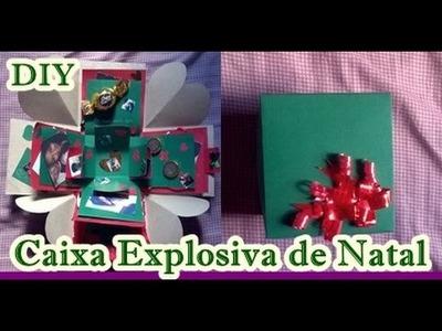 DIY Presente Criativo para Namorado. Caixa Explosiva de Natal :)