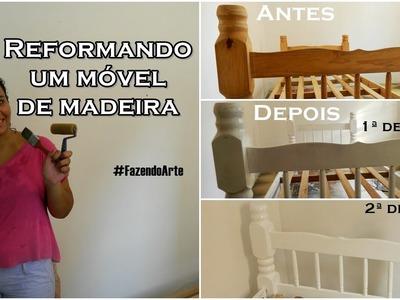 DIY: Reformando cama de madeira #FazendoArte
