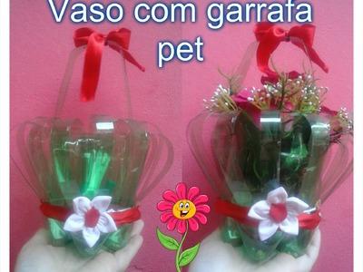 DIY: Vaso com garrafa pet