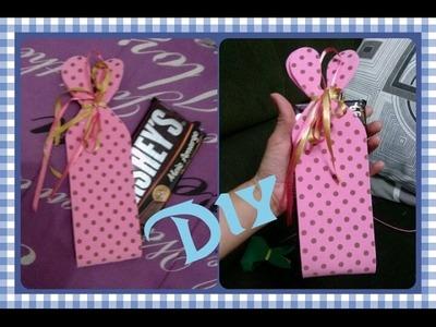 Embalagem em EVA para barra de chocolate.
