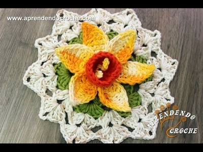 Flor de Crochê Narciso - Aprendendo Croche