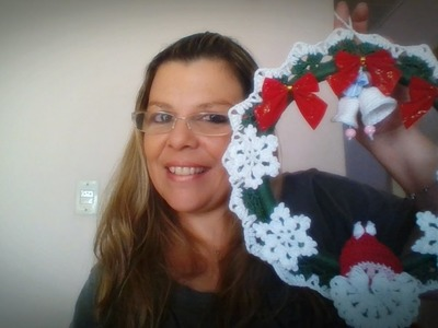 Guirlanda de Natal em Crochê
