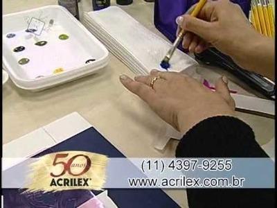 Imitação de azulejo português - Artesanato - Acrilex