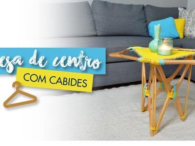 Mesa de centro com cabides - DIY BY JANA