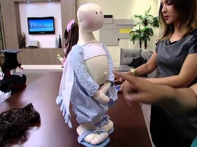 Mulher.com 22.05.2014 - Boneca Gravida por Silvia Torres parte 2