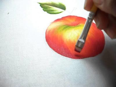 Pintura em tecido- maçã