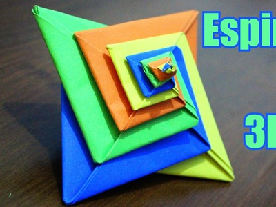 Pirâmide em Espiral 3D - Origami
