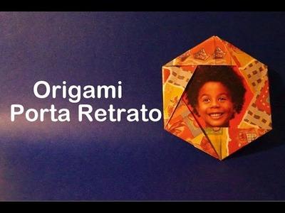 Porta Retrato de Origami - Dobradura de Papel Fácil - Papiroflexia, dobradura.
