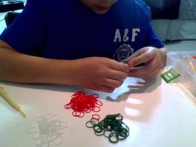 TUTORIAL = como criar pulseiras de mini elastico (GOMITAS)