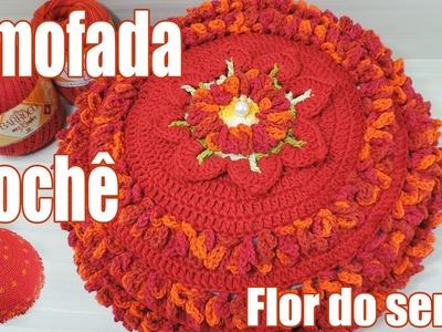 Almofada de crochê - Flor do Sertão