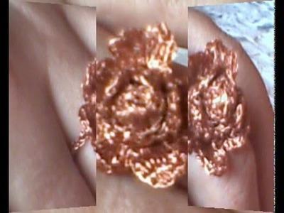 Anel Flor de Cobre