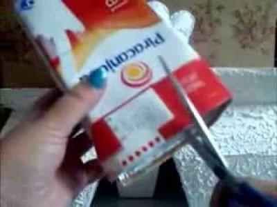 Artesanato com caixinha de leite muito fácil