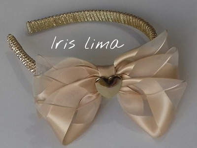Como fazer laço mil faces com 3 camadas Diy ,Tutorial ,Pap By Iris Lima How To Make a Hair Bow co