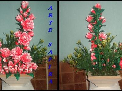 Como montar um arranjo de rosas de eva 1º parte