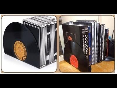 D.I.Y - Porta livros de vinil
