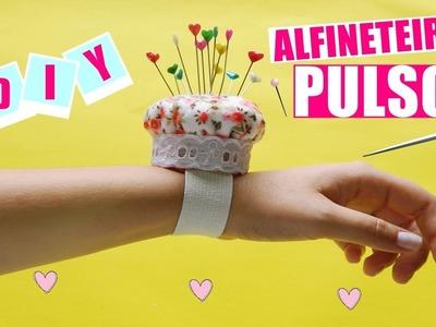 DIY| Alfineteiro  de Pulso♥  Muito útil para costurices ♥